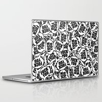 fuck you Laptop & iPad Skins featuring Fuck You by 10813 Apparel
