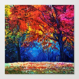 Tardis Tree Art Blossom Canvas Print