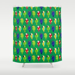 Parrots in the Tropics Shower Curtain