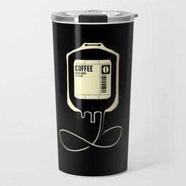 Coffee Transfusion - Black Travel Mug