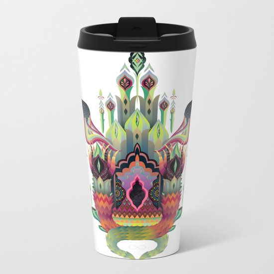 Botanical castle Metal Travel Mug