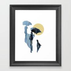 when it pours it rains Framed Art Print