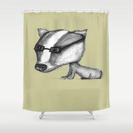 NORDIC ANIMAL  - BENITO THE BADGER / ORIGINAL DANISH DESIGN bykazandholly  Shower Curtain