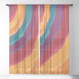 Rainbow-bullseye-jawbreaker sunshine Sheer Curtain