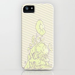 Skull earth bright iPhone Case