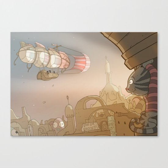 On the Road 8: Good Bye Canvas Print