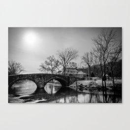 Clove Lakes Rock Bridge Canvas Print
