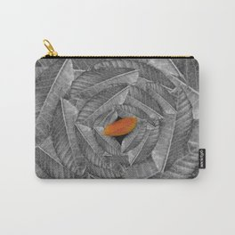 Orange Leaf On Grey And Silver Leaves - Beautiful Background - Autumn mood - #Society6 #buyart Carry-All Pouch