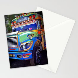 Guatemala - Chicken Bus Colors Stationery Cards