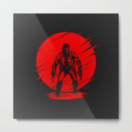 Logan Red Sunset Metal Print