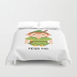 Peter Pan Pixel Character Duvet Cover
