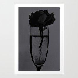 Liquid rose Art Print