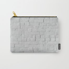 White Brick Wall (Black and White) Carry-All Pouch