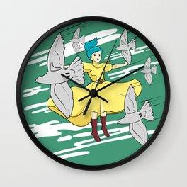 Castle In The Sky - Birds Flying Wall Clock