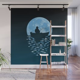 Hooked by Moonlight Wall Mural