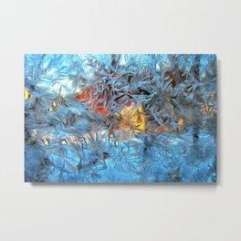 Frozen window Metal Print