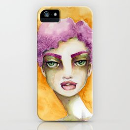 Original Watercolor Illustration by Jenny Manno Art/Elaine iPhone Case