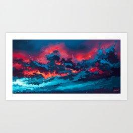Thunderclouds Art Print