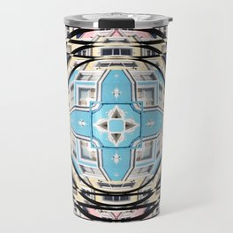 Perspective Aperture, Intersecting Pattern Travel Mug