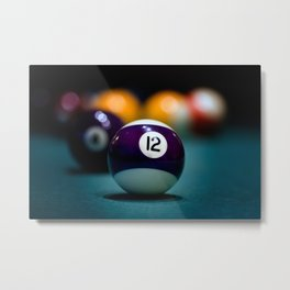 Twelve Ball Metal Print