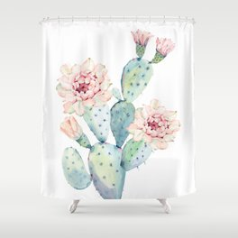 The Prettiest Cactus Shower Curtain