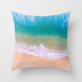 Ariel Beach Scene Throw Pillow