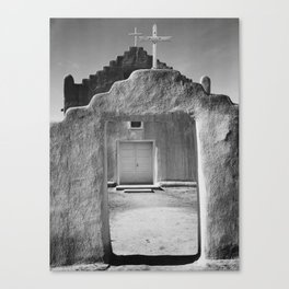 Ansel Adams - Taos Pueblo Church Canvas Print