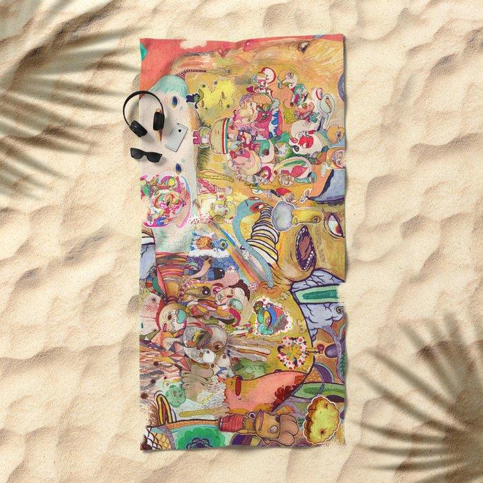 monster of mind ( Renovate work 2008-2016) Beach Towel