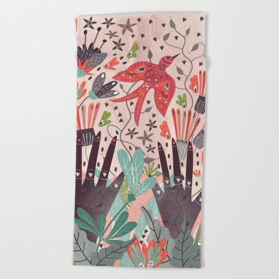 Spring Bird Beach Towel