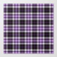 Purple Plaid Canvas Print