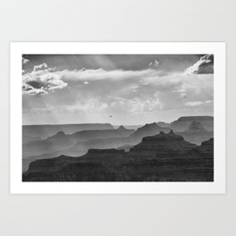 Helicopter on the Grand Canyon | Watchtower Point | Arizona (Usa) Art Print