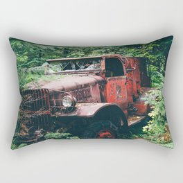 Abandoned Truck in the Woods Rectangular Pillow