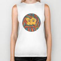 circle Biker Tanks featuring Circle by Brad Hansen