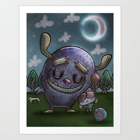 Monster friend Art Print