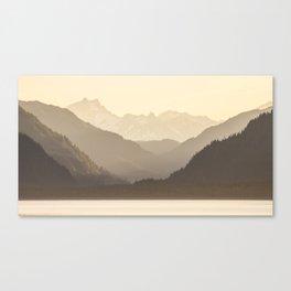 Golden Mountain Range Canvas Print