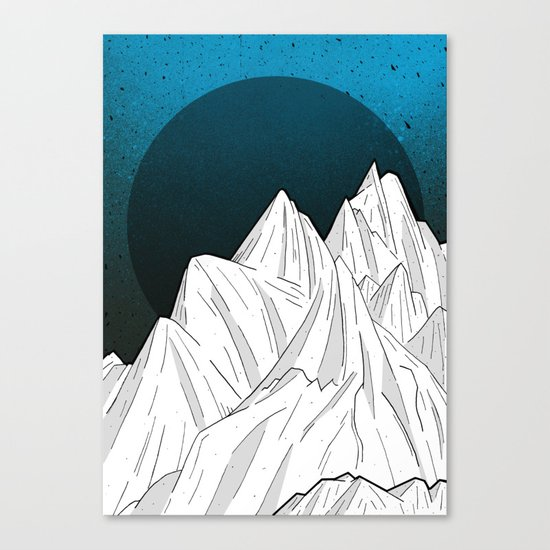 The deep blue moon Canvas Print