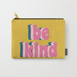 Be Kind Inspirational Anti-Bullying Typography Carry-All Pouch