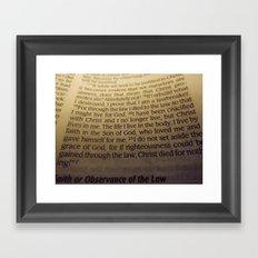 Through the Law. Framed Art Print