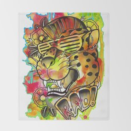 Rad Leopard Throw Blanket