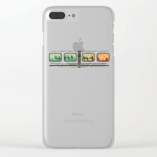 Ground Zero - Zombie Subway Clear iPhone Case
