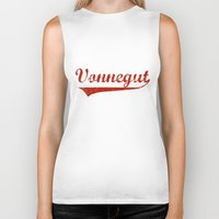 vonnegut Biker Tanks featuring Team Vonnegut by Oscar Sierra