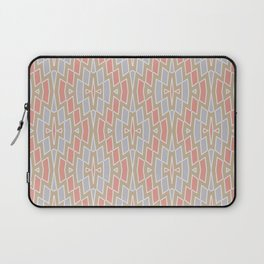 Tribal Diamond Pattern in Peach, Tan and Gray Laptop Sleeve
