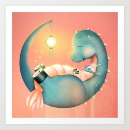 Sushi Dinosaur Art Print