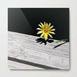 Yellow Zen Flower Metal Print