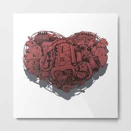 The heart of the Volvo 960 Metal Print