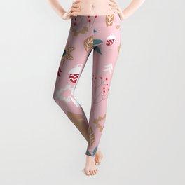 Cute Christmas in pink Leggings