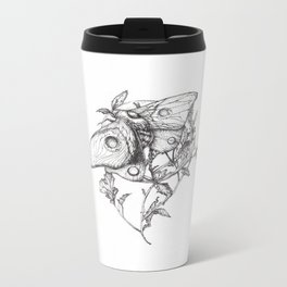 Moon Moth Metal Travel Mug