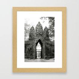 Mysterious buddhist khmer history in Cambodia Framed Art Print