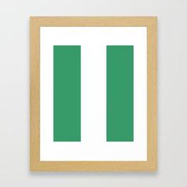 Flag of nigeria 2 -nigeria, nigerian,africa,hausa,igbo,Yoruba,Naira,Lagos,Kano Framed Art Print