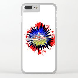 Fighter Plane Cartoon Clear iPhone Case